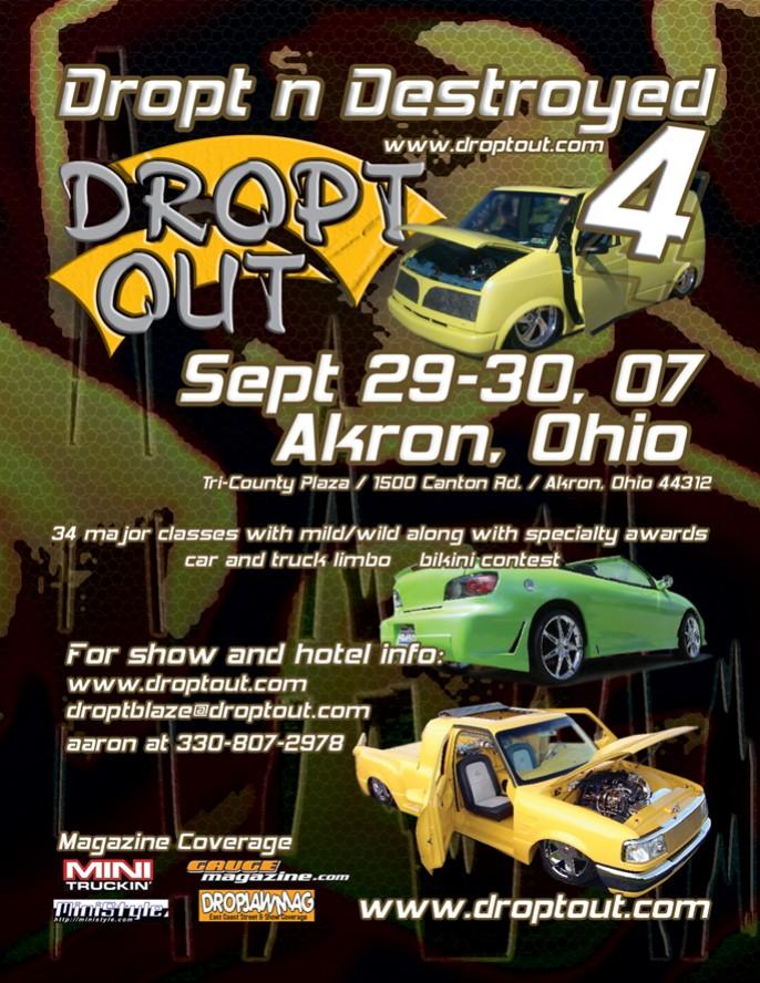 Dropt and Destroyed 4 in Akron, Ohio Sept 29-30 Droptoutshowflyer